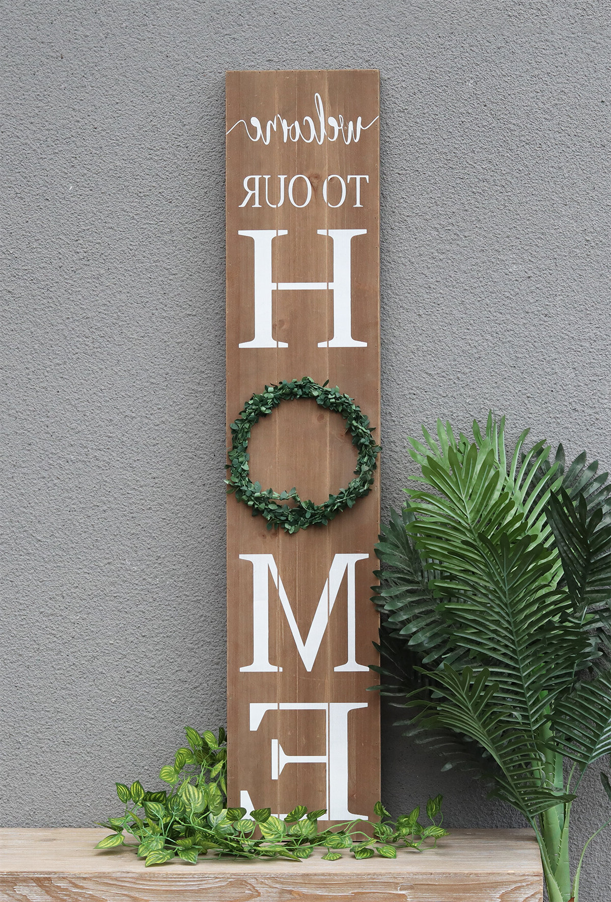 """Favorite Welcome To Our Home Wall Décor In Heart Shaped """"welcome"""" Sign Wall Décor By August Grove (View 4 of 20)"""
