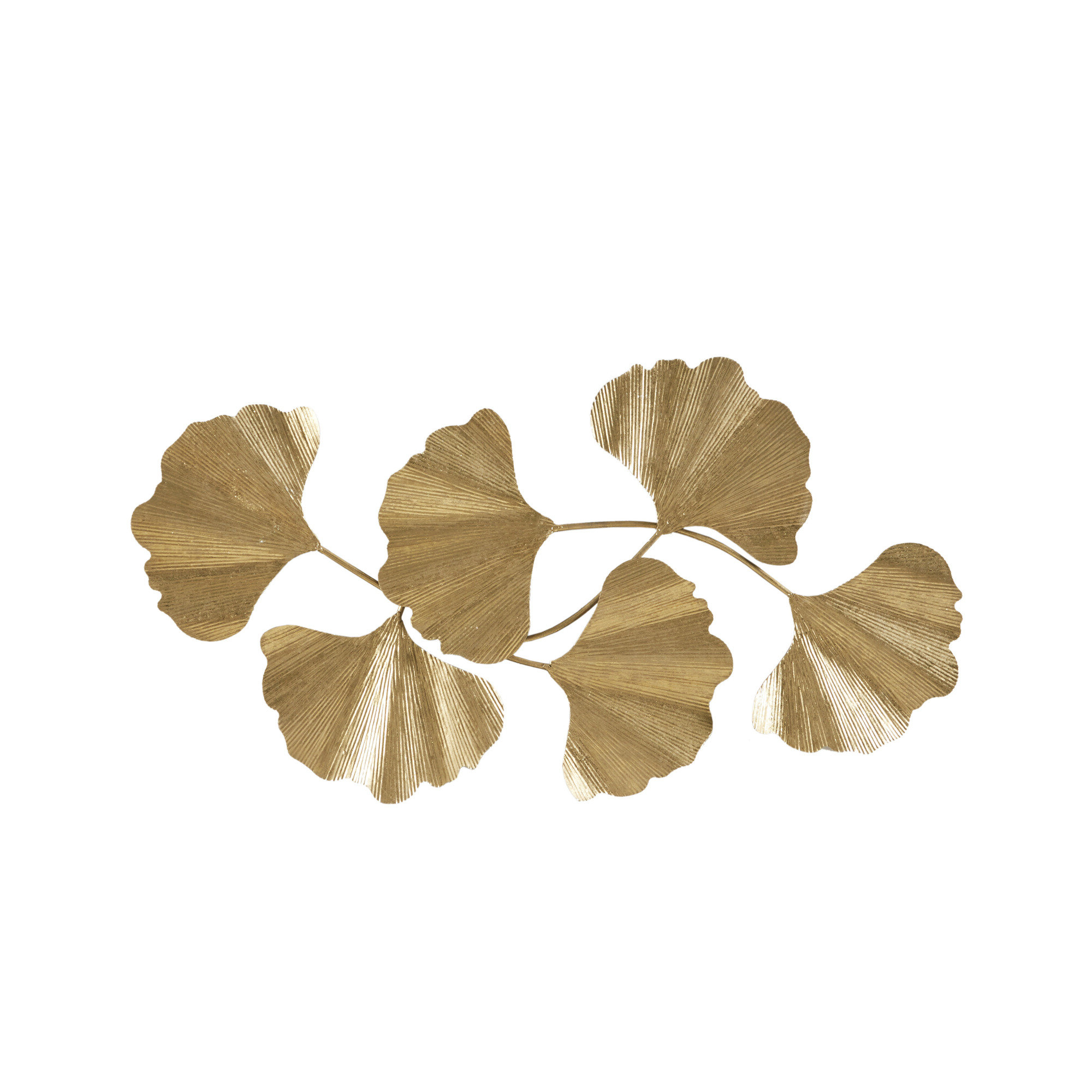 Faye Gold Foil Ginkgo Leaf Wall Art With Regard To Recent Ginkgo Leaf Metal Wall Décor By Winston Porter (View 13 of 20)