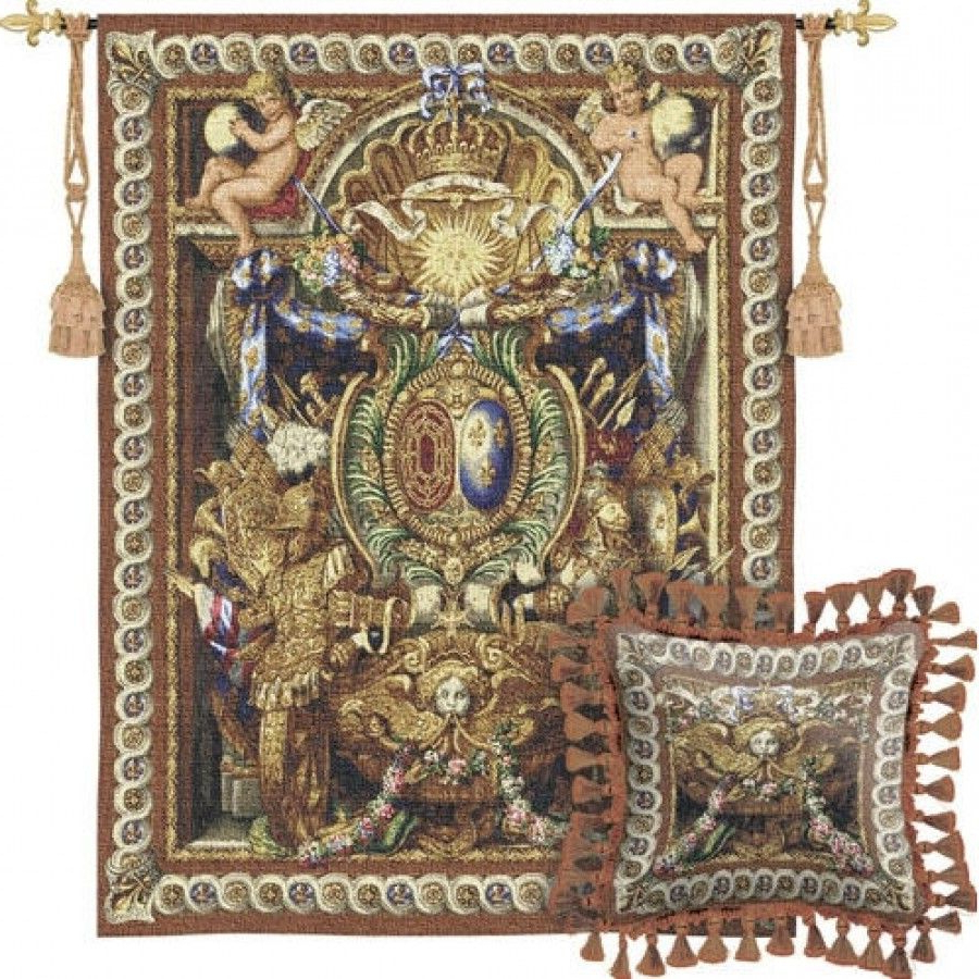 Fine Art Tapestries Portieve Du Char Tapestry – 2247 Wh Inside Preferred Blended Fabric Peacock European Tapestries (View 13 of 20)