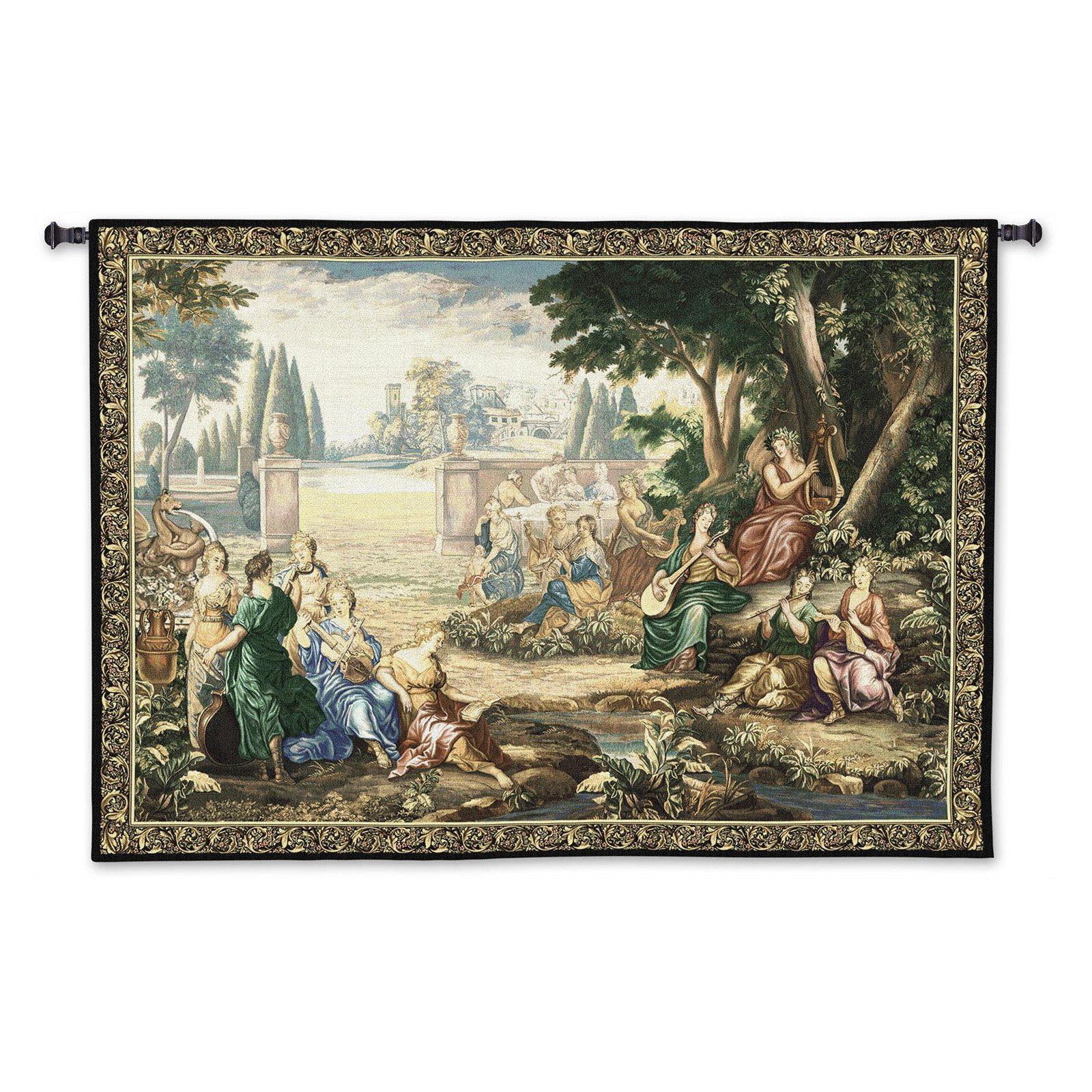 Fine Art Tapestries Romantic Pastoral Scene Cotton And Wool Pertaining To Most Recent Grandes Armoiries I European Tapestries (View 17 of 20)