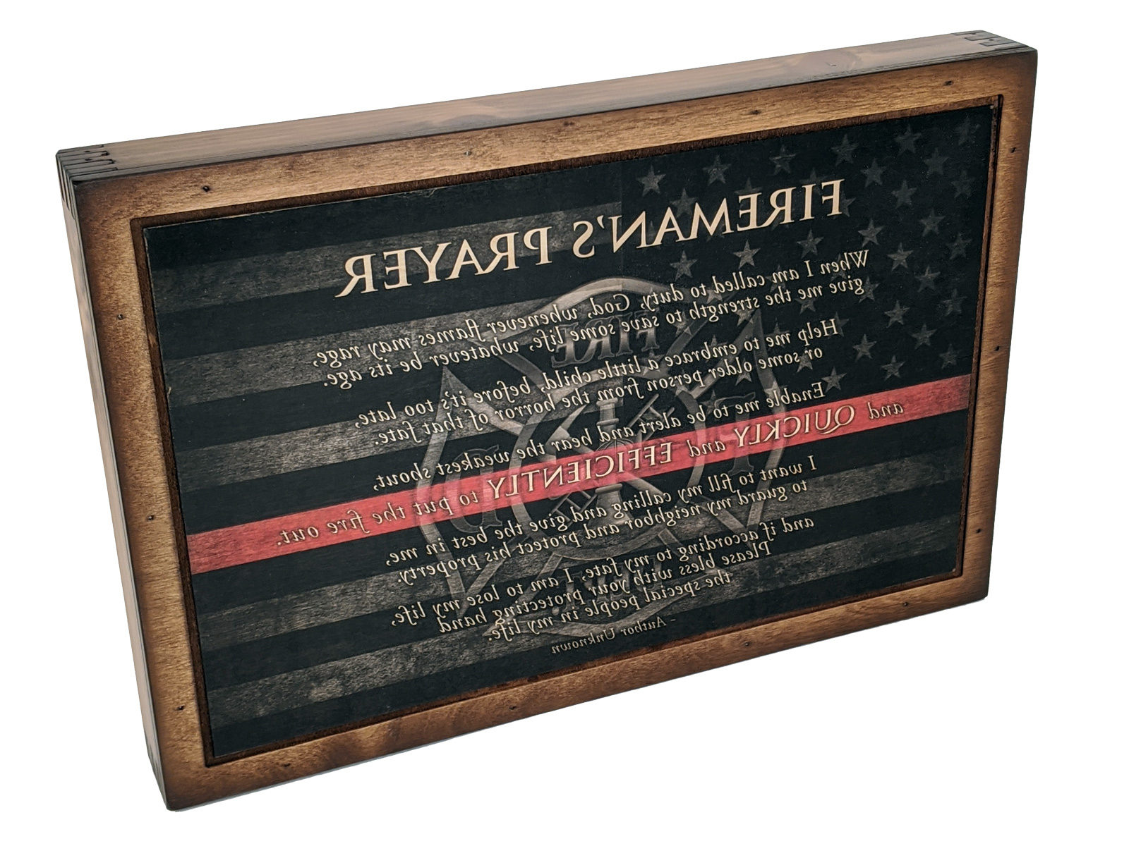 Firefighter Prayer – Wall Art – Relic Wood Pertaining To Famous A Fireman Prayer Wall Hangings (View 11 of 20)