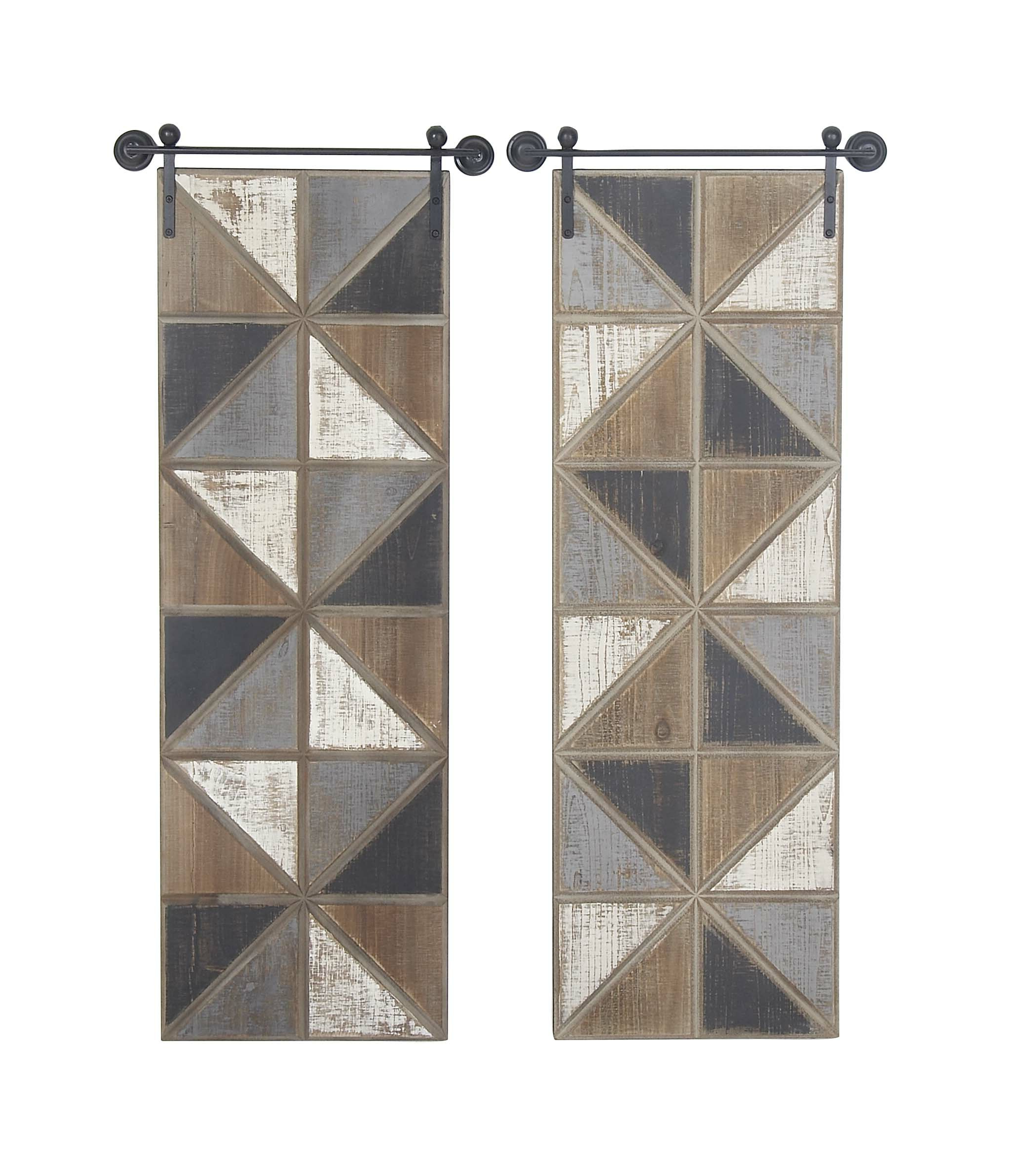 Fleta Panel Wall Décor Intended For Well Known Foundry Select 2 Piece Belia Farmhouse Wall Decor Set (View 7 of 20)