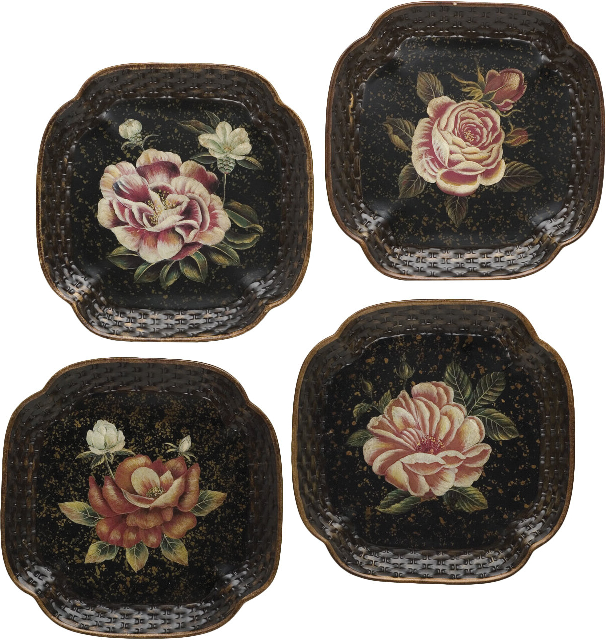 Floral Plate Wall Décor By World Menagerie Intended For Widely Used Ravi Handpainted Rose Decorative Plate (View 17 of 20)