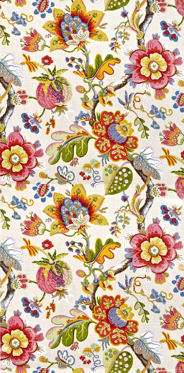Floral Upholstery Fabric, Warwick Intended For Well Known Blended Fabric Hidden Garden Chinoiserie Wall Hangings With Rod (View 17 of 20)