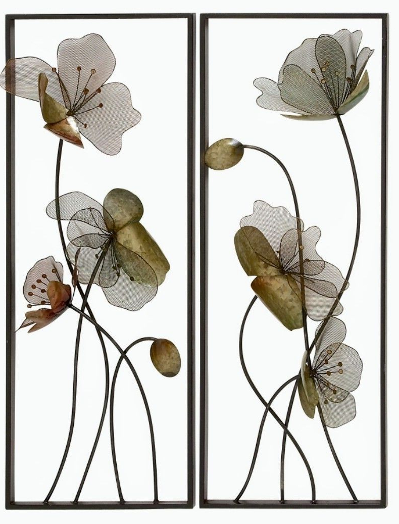 Floral Wall Art, Metal In Most Recently Released Wall Décor By Latitude Run (View 19 of 20)