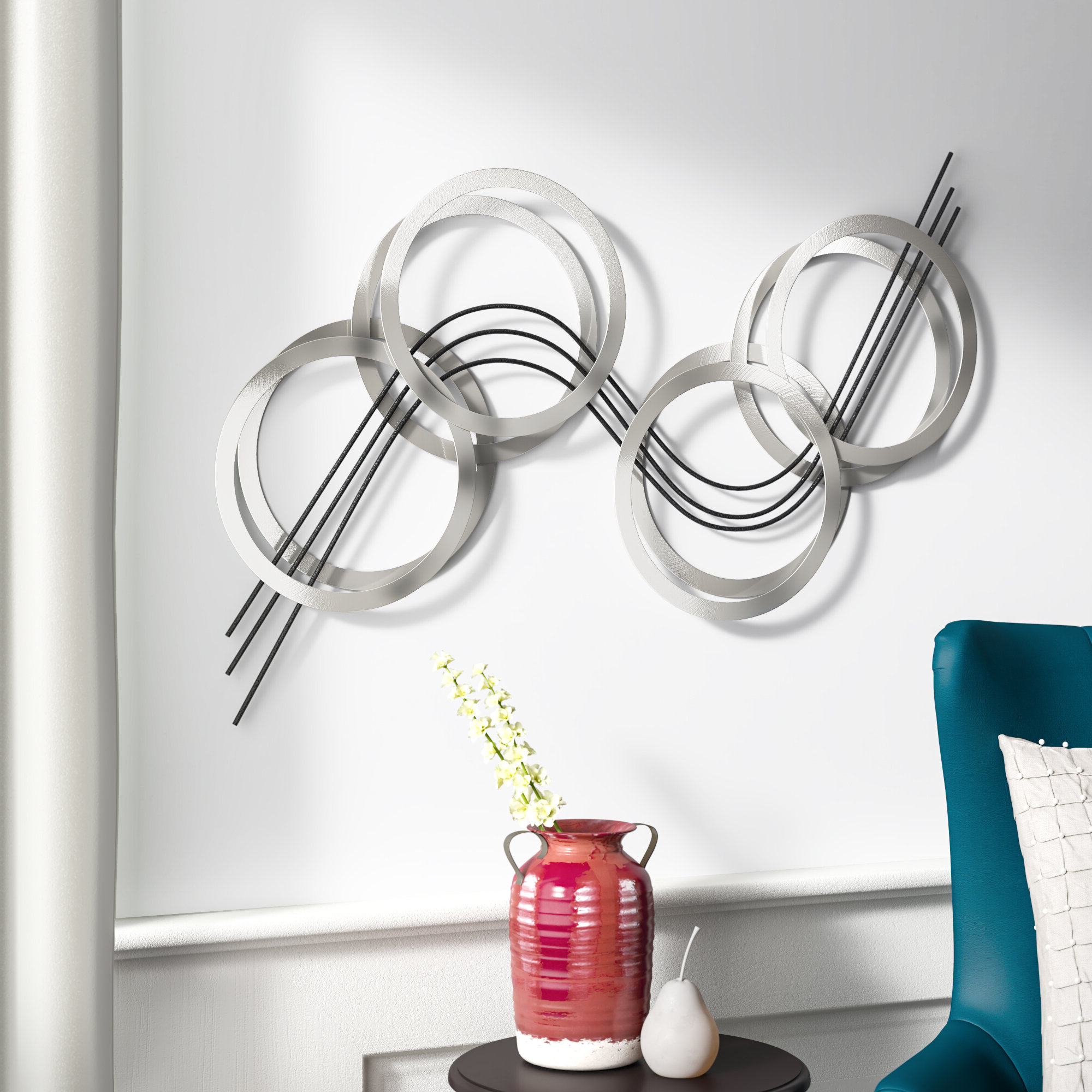 Flowing Wall Décor Throughout 2019 Graceful Wall Décor By Orren Ellis (View 7 of 20)