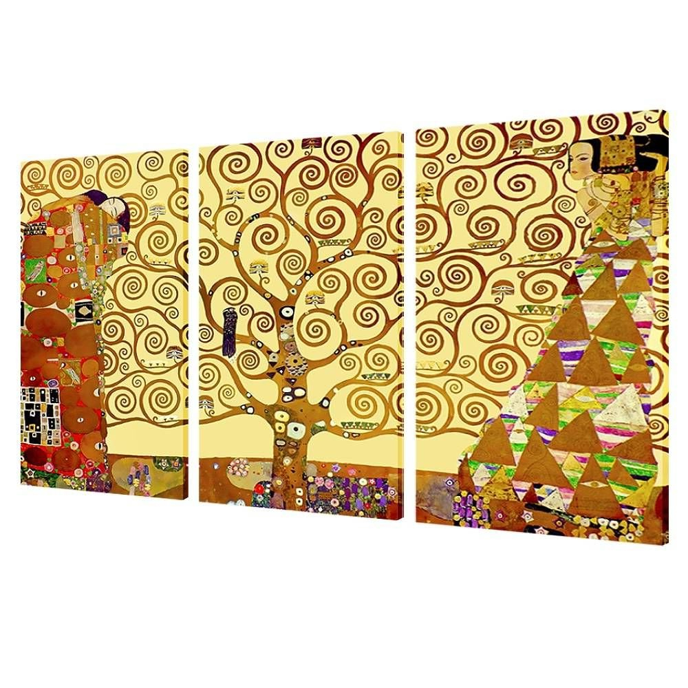 Framed With Most Recently Released Blended Fabric Klimt Tree Of Life Wall Hangings (View 7 of 20)