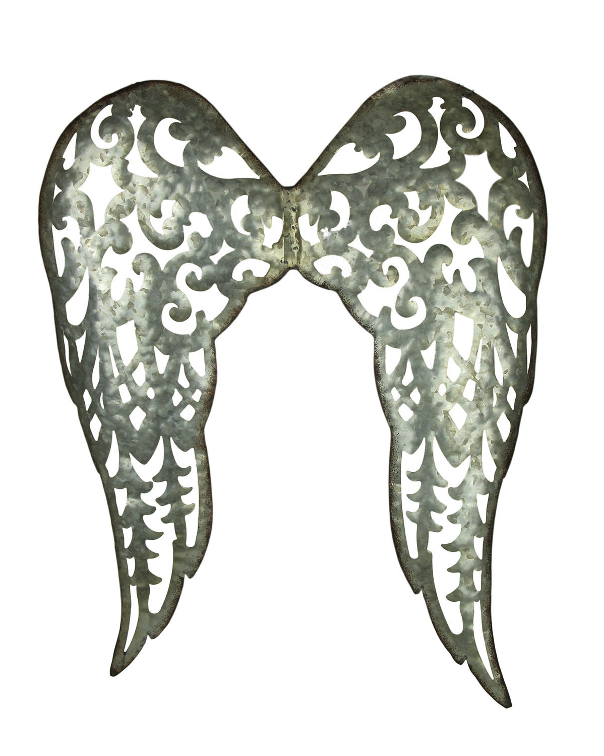 Galvanized Metal Filigree Angel Wings Wall Décor With Widely Used Wing Wall Décor By One Allium Way (View 6 of 20)