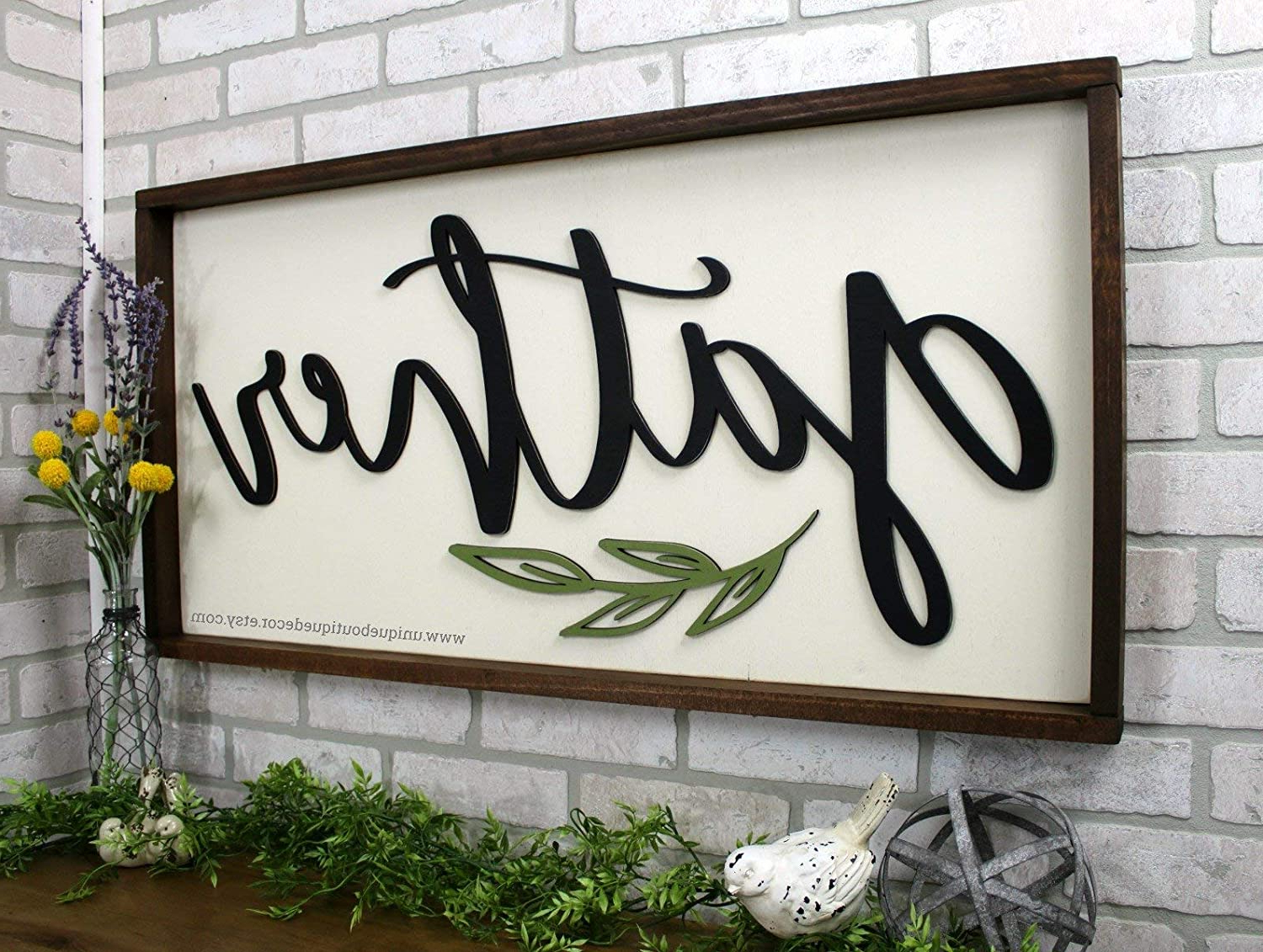 Gather Galvanized Metal Wall Décor With Regard To Fashionable Dason Gather Sign Farmhouse Wall Decor Fixer Upper Sign Wooden Wood Framed Sign Gather Wall Decor Rustic Home Decor Gallery Wall Sign (View 13 of 20)