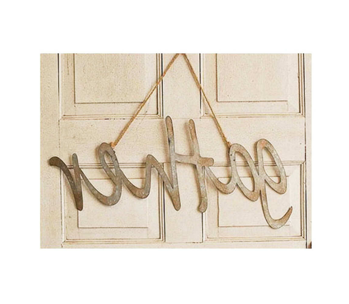Gather Galvanized Metal Wall Décor Within Favorite Hanging Metal Word Gather Wall Décor (View 8 of 20)