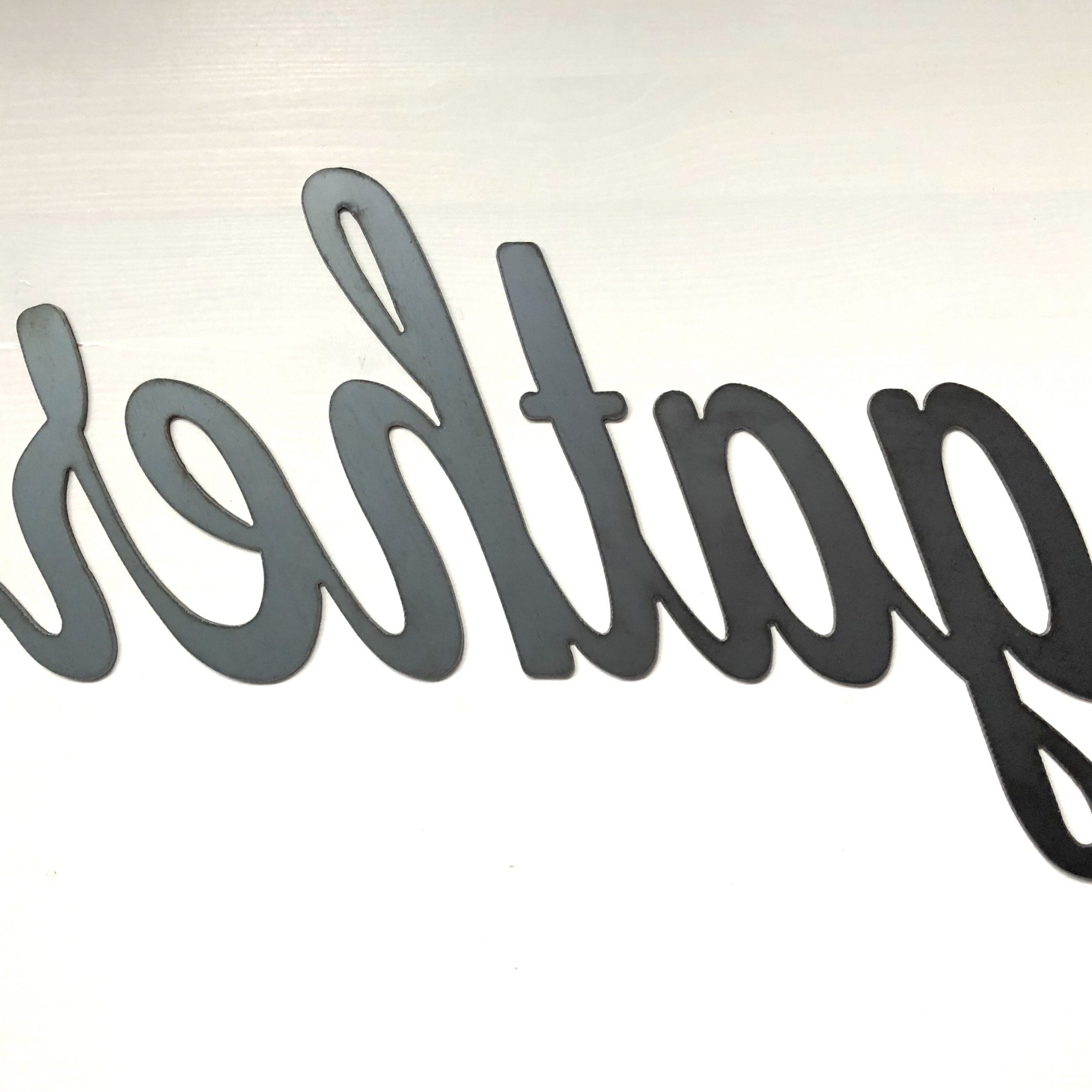 Gather Metal Script Wall Decor For Most Popular Gather Script Wall Décor By Winston Porter (View 8 of 20)
