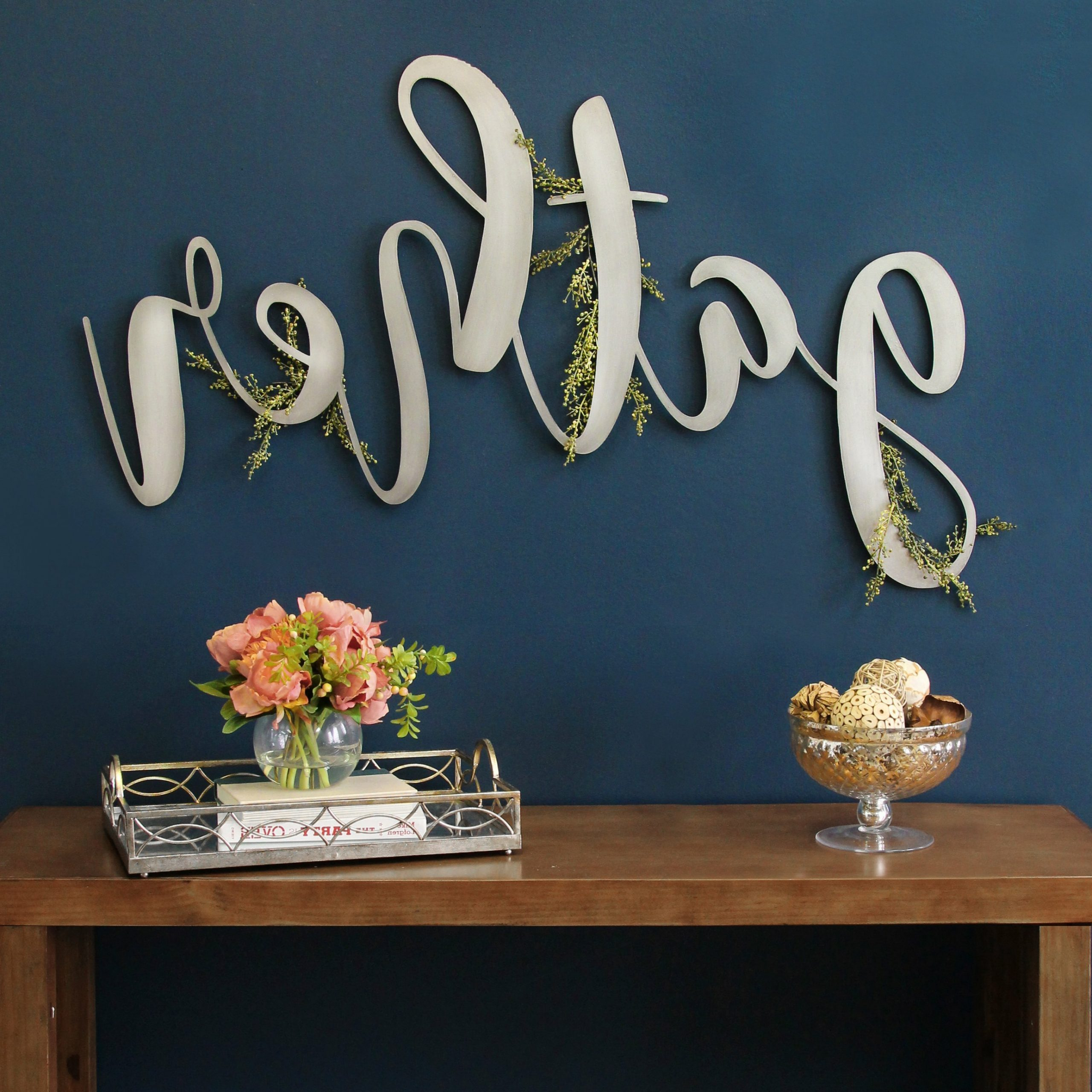 Gather Script Wall Décor By Winston Porter With Preferred Metal Gather Script Sign Wall Décor (View 5 of 20)