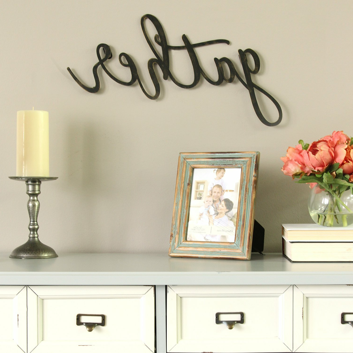 Featured Photo of Gather Script Wall Décor By Winston Porter
