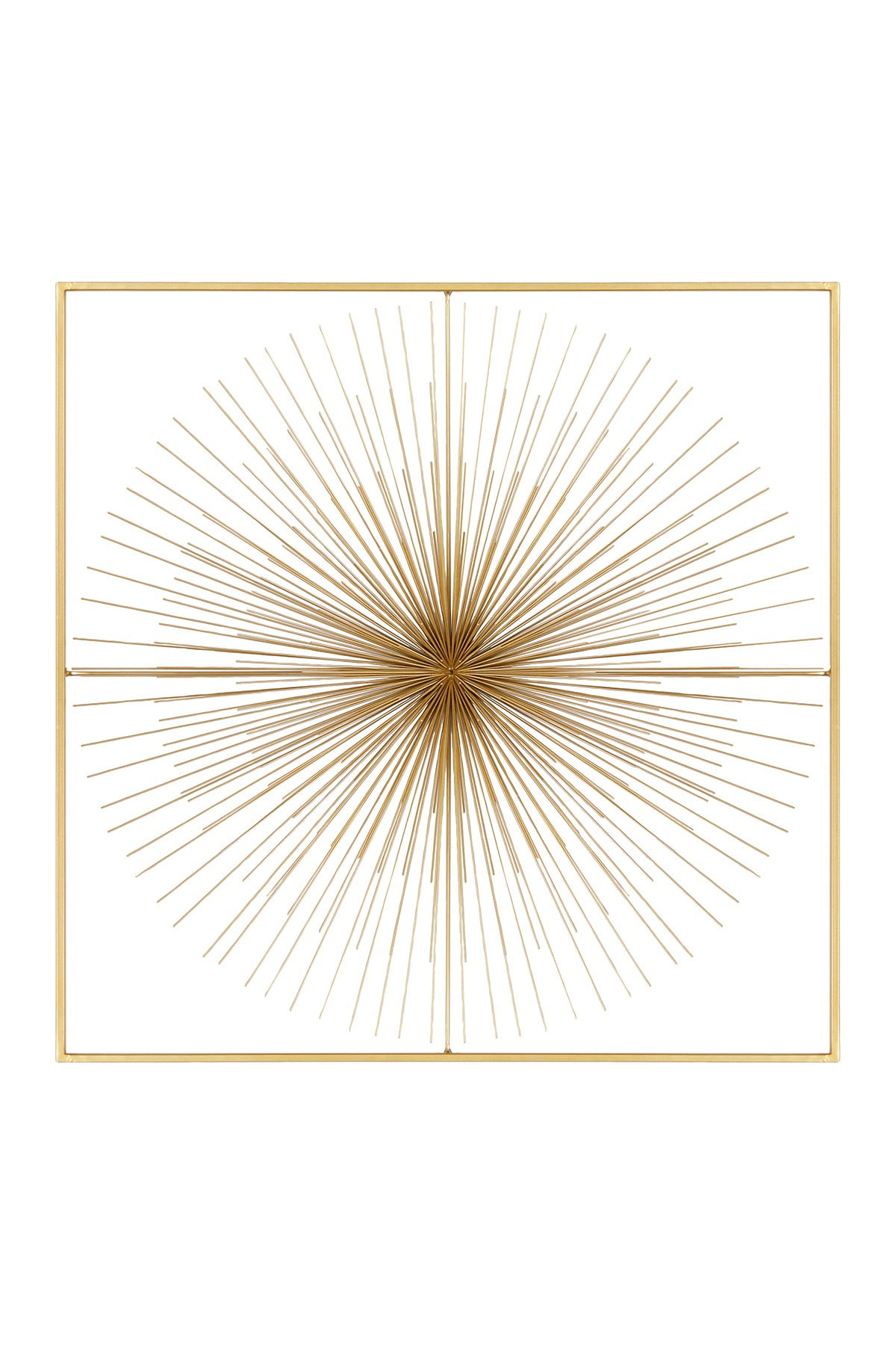 """Gold Square Metal Wall Decor With Starburst Center – 36"""" X 36"""" (View 17 of 20)"""