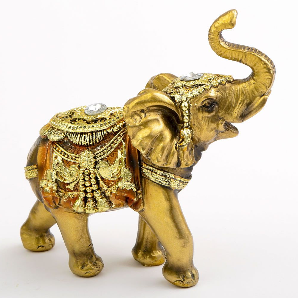 Gold With Jewels Elephant – Medium Size – Famous Favors (View 15 of 20)