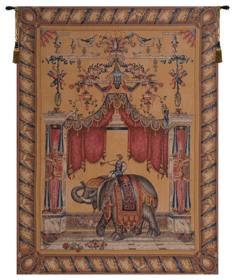 Grandes Armoiries I European Tapestries In Well Known Grotesque Elephant European Tapestry Wall Hanging (View 3 of 20)
