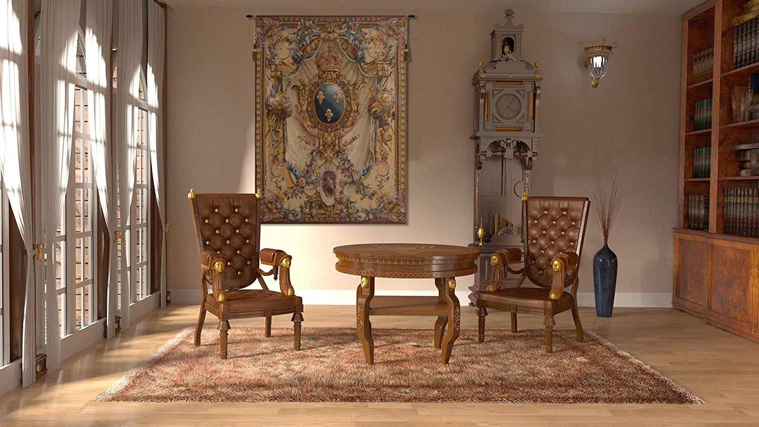 Grandes Armoiries I European Tapestries With Regard To Preferred Amazon: Charlotte Home Furnishing Inc (View 6 of 20)