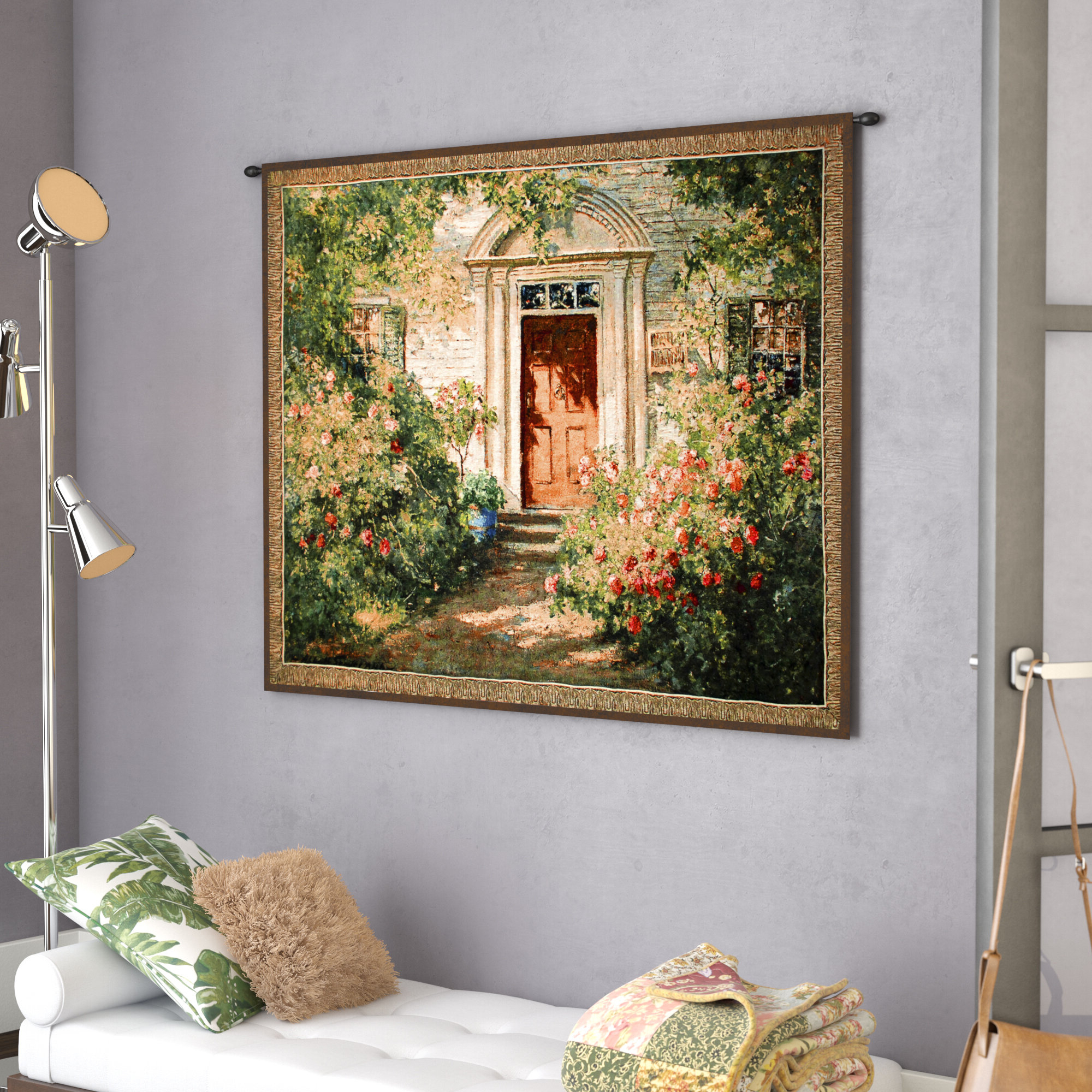 Grandma's Doorway Tapestry In Most Recently Released Blended Fabric Gallanteries European Wall Hangings (View 3 of 20)
