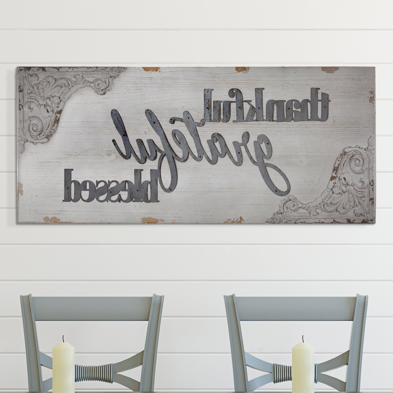 Grateful, Thankful, Blessed Wall Decor For Most Current Inspirational Words Metal Wall Art Blessed Thankful Grateful (View 10 of 20)