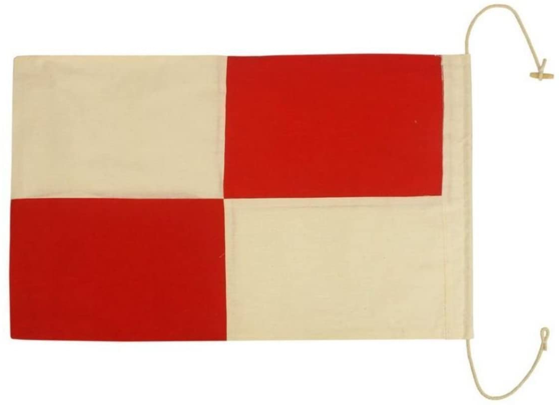 "Hampton Nautical Letter U Nautical Cloth Alphabet Flag , 20"" Regarding Most Recently Released Letter Wooden Nautical Alphabet Flag Wall Décor (View 16 of 20)"