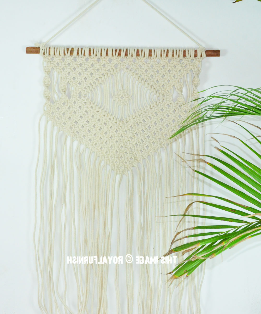 Hand Woven Macrame Tapestry Wall Hanging 40 Inch Long In 2019 Hand Woven Wall Hangings (View 13 of 20)