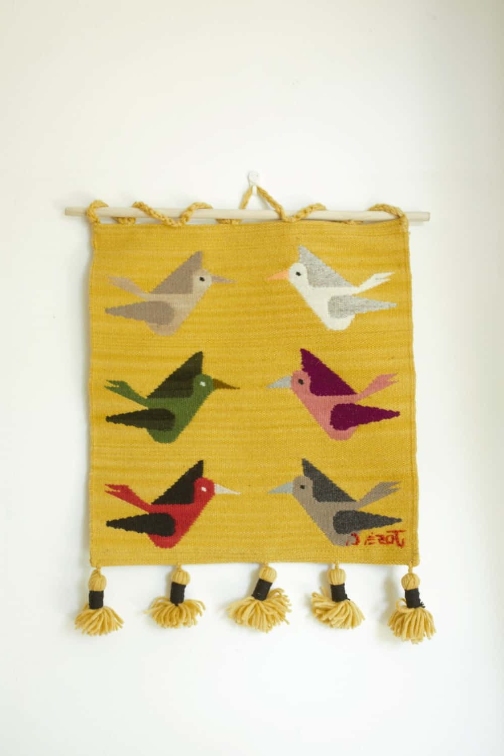 Hand Woven Wall Hangings – Pajaros Series Ct02by For Well Known Hand Woven Wall Hangings (View 18 of 20)