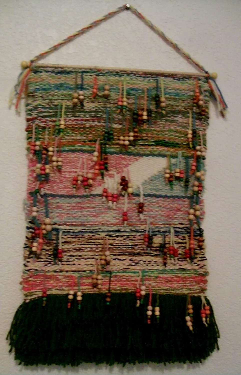 Hand Woven Wall Hangings Throughout Favorite Amazon: Shimmy And Shake Beaded Hand Woven Tapestry Wall (View 12 of 20)