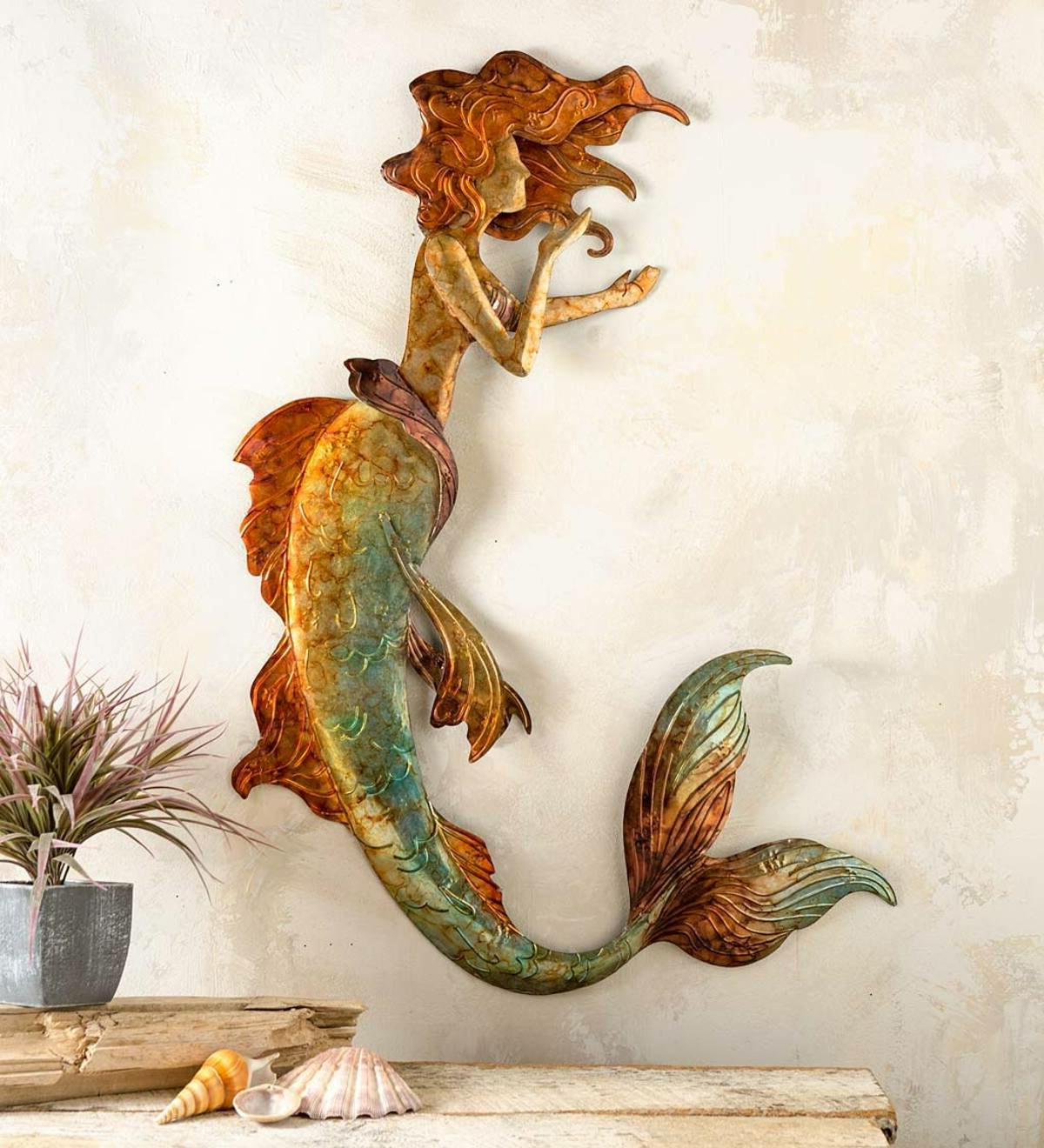 Handcrafted Metal Mermaid Wall Décor For 2020 Handcrafted Metal Wall Décor (View 16 of 20)