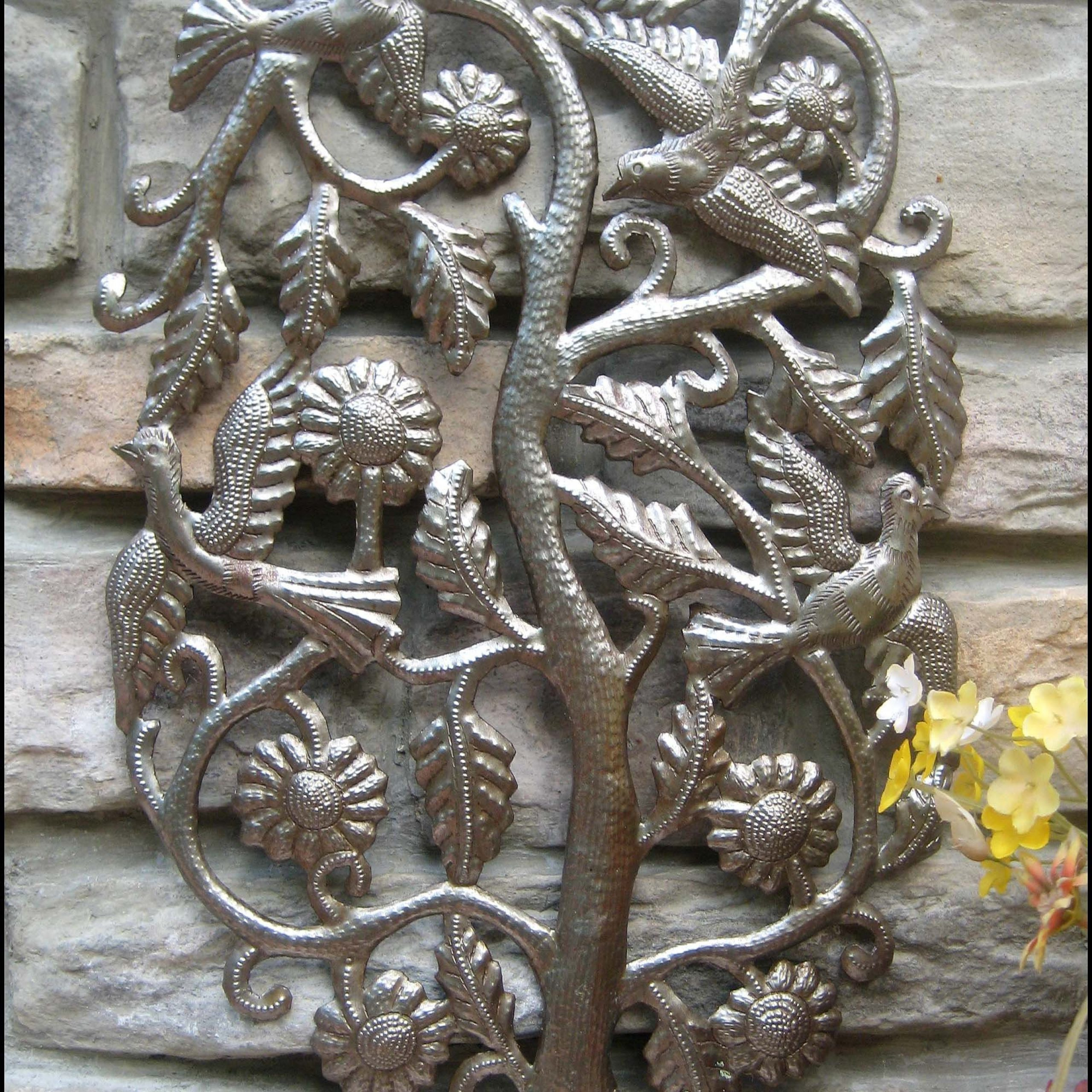 Handcrafted Metal Wall Décor For Widely Used Metal Wall Art, Metal Wall Decor, Tropical Art, Flock Of (View 9 of 20)