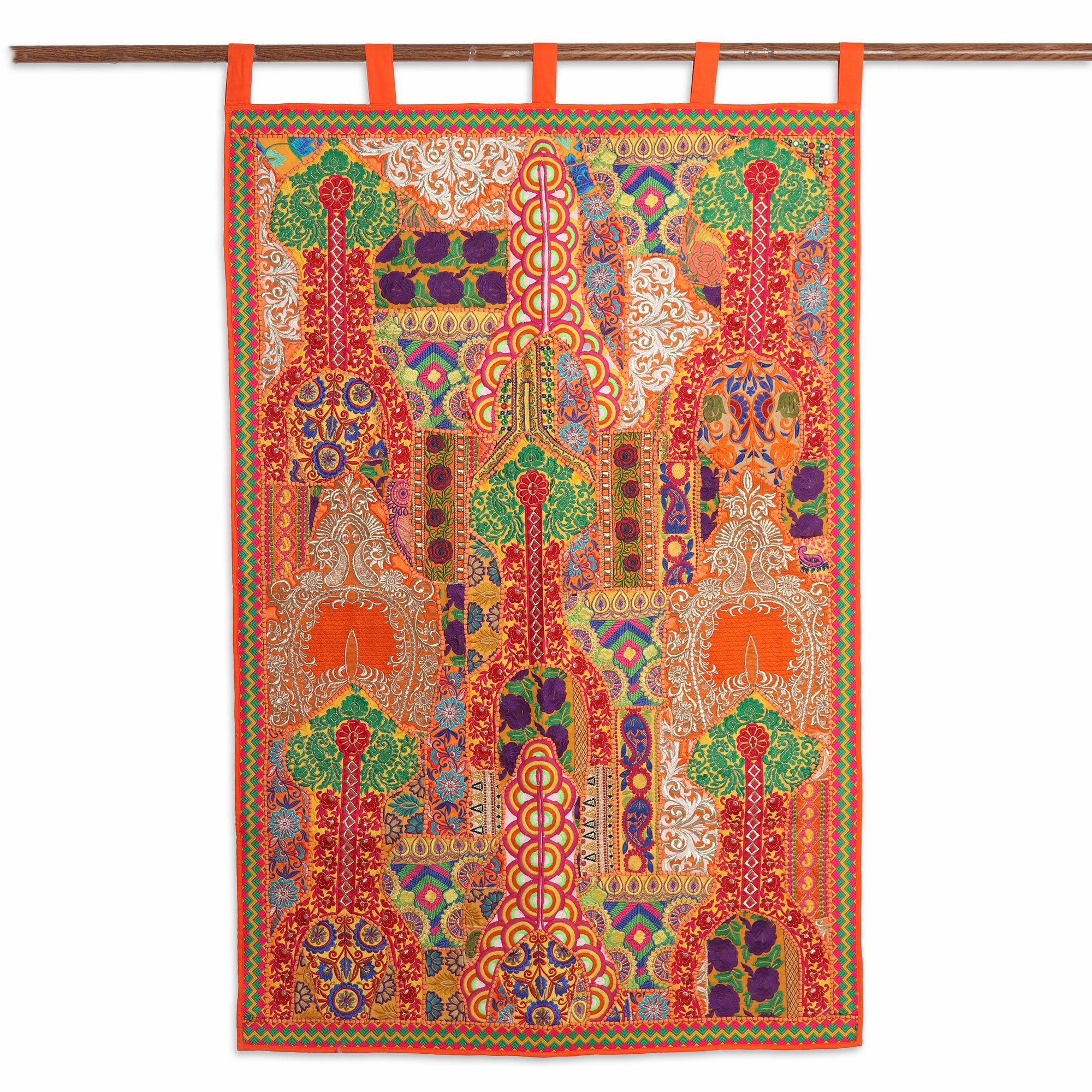 Handmade Floral Dazzle Recycled Cotton Blend Wall Hanging With Most Recently Released Blended Fabric Ranier Wall Hangings With Hanging Accessories Included (View 12 of 20)