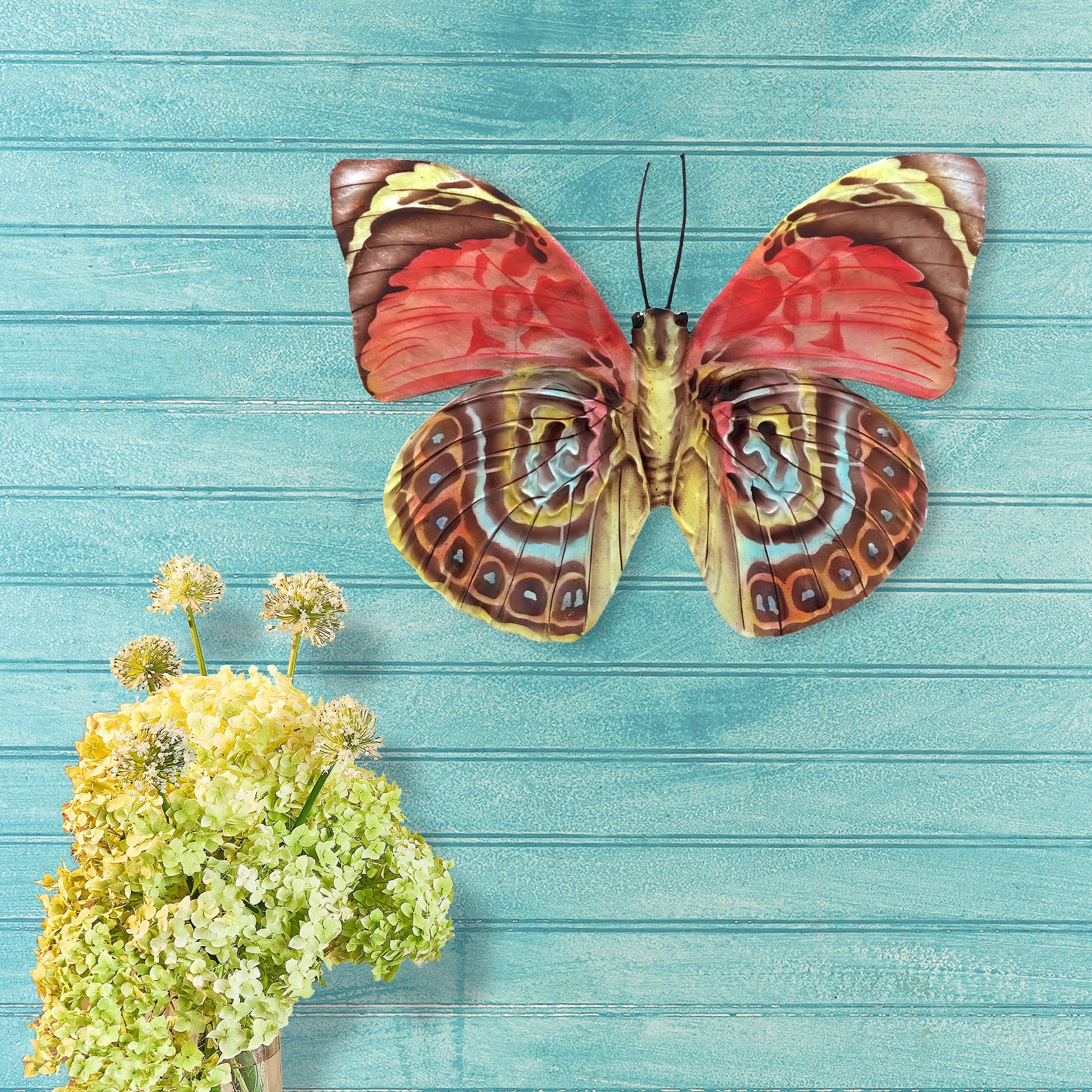 Handmade Red Multi Color Butterfly Wall Decor In Popular Multicolored Butterfly Bouquet Wall Décor (View 14 of 20)