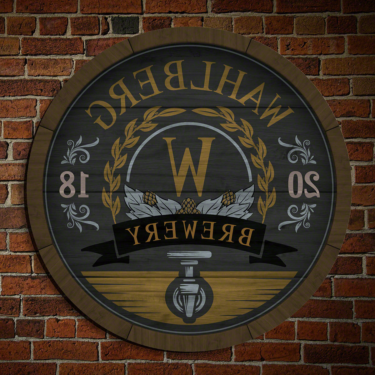 """Heart Shaped """"welcome"""" Sign Wall Décor By August Grove Within Most Recent Wooden Keg Personalized Brewery Sign Wall Décor (View 7 of 20)"""