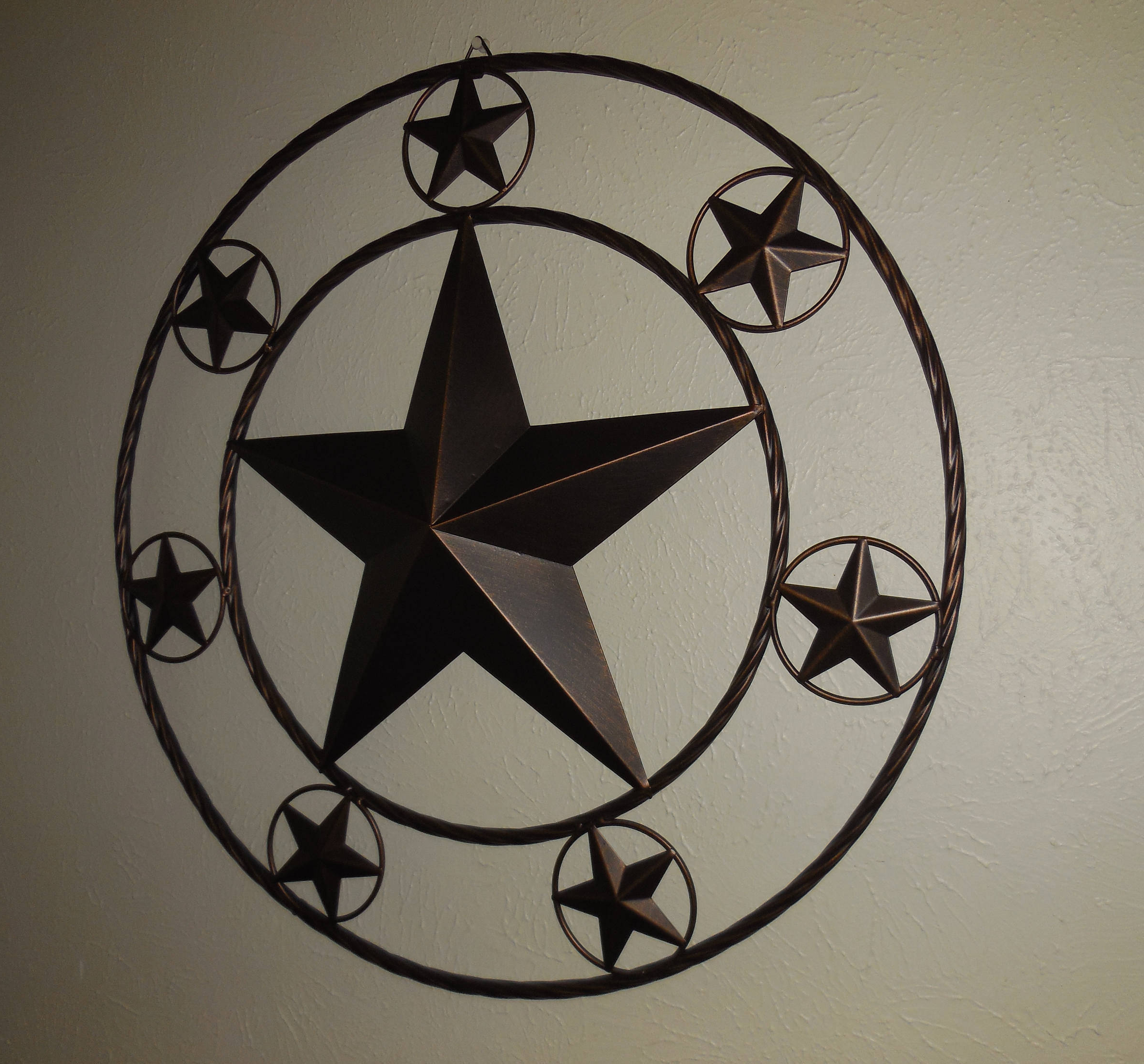 """Home Décor 46"""" Welcome Lone Star Metal Wall Art Western Home For Widely Used Copper Rustic Iron Wall Décor (View 17 of 20)"""