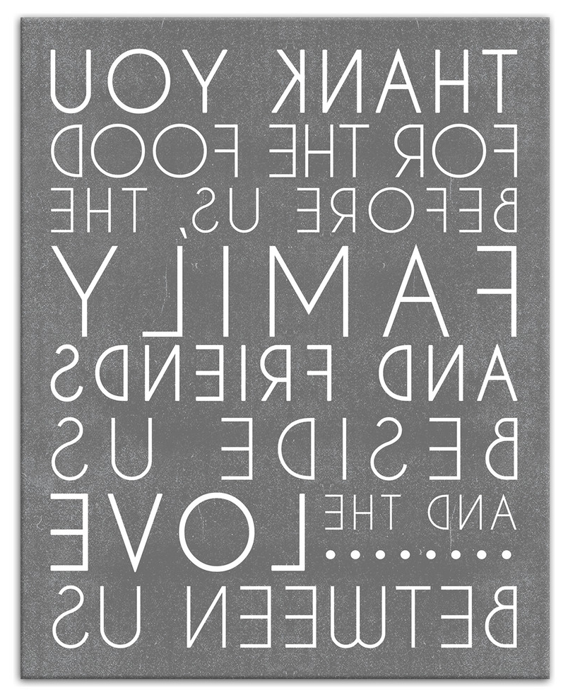 I Love You More Rectangle Textual Art Inside Preferred Food Blessing Prayer Gray Wall Art, 8x10, Canvas (View 8 of 20)
