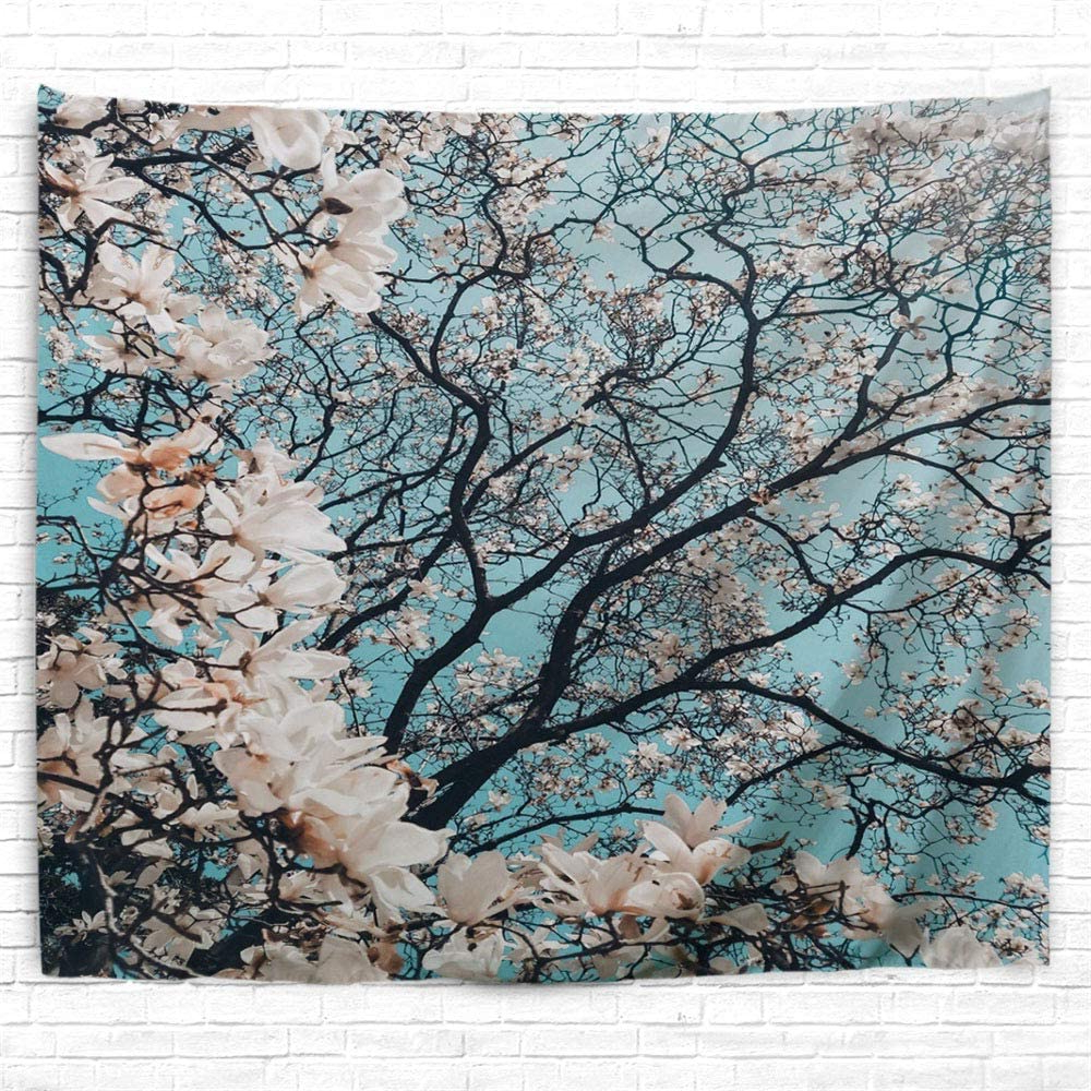 [%icosamro Cherry Blossoms Tapestry Wall Hanging, White Flowers Plant Floral Bohemian Boho Hippie Wall Decor Poster [double Folded Hems] Home Decor For Inside Most Recent Blended Fabric Spring Blossom Tapestries|blended Fabric Spring Blossom Tapestries Pertaining To Favorite Icosamro Cherry Blossoms Tapestry Wall Hanging, White Flowers Plant Floral Bohemian Boho Hippie Wall Decor Poster [double Folded Hems] Home Decor For|well Known Blended Fabric Spring Blossom Tapestries Inside Icosamro Cherry Blossoms Tapestry Wall Hanging, White Flowers Plant Floral Bohemian Boho Hippie Wall Decor Poster [double Folded Hems] Home Decor For|well Liked Icosamro Cherry Blossoms Tapestry Wall Hanging, White Flowers Plant Floral Bohemian Boho Hippie Wall Decor Poster [double Folded Hems] Home Decor For Within Blended Fabric Spring Blossom Tapestries%] (View 4 of 20)