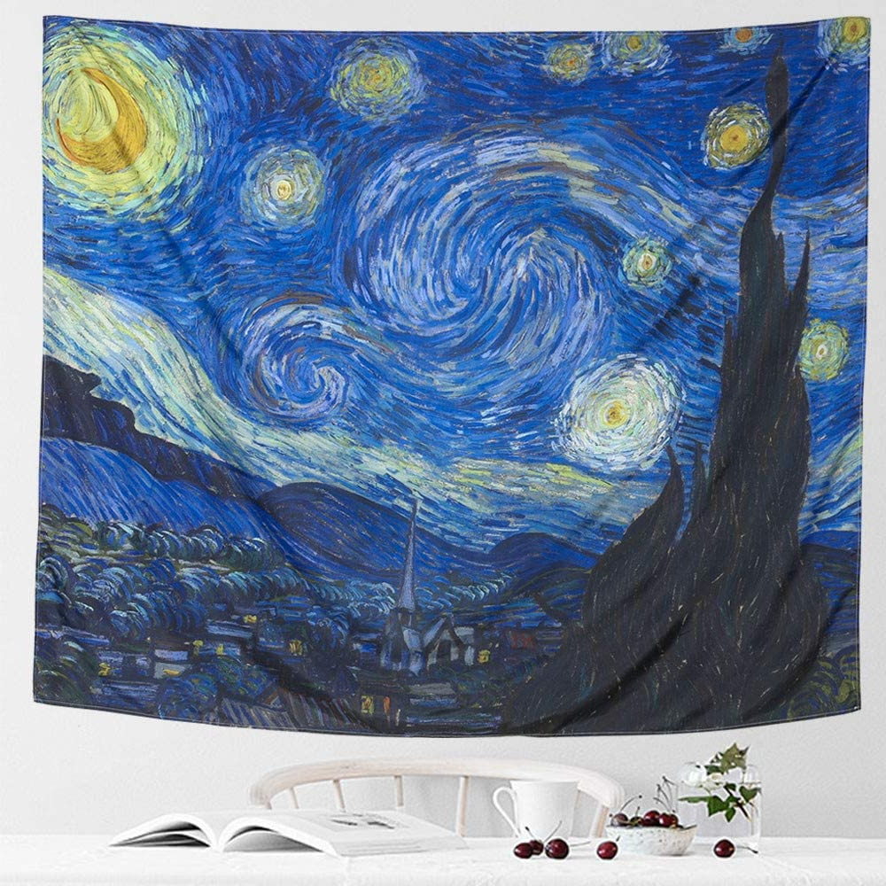 [%icosamro Starry Night Tapestry Wall Hanging, Van Gogh Art Wall Tapestries [51x60''][double Folded Hems] Star Blanket Tablecloth For Bedroom, Dorm, Inside Widely Used Blended Fabric Van Gogh Starry Night Over The Rhone Wall Hangings|blended Fabric Van Gogh Starry Night Over The Rhone Wall Hangings Regarding Latest Icosamro Starry Night Tapestry Wall Hanging, Van Gogh Art Wall Tapestries [51x60''][double Folded Hems] Star Blanket Tablecloth For Bedroom, Dorm,|newest Blended Fabric Van Gogh Starry Night Over The Rhone Wall Hangings Regarding Icosamro Starry Night Tapestry Wall Hanging, Van Gogh Art Wall Tapestries [51x60''][double Folded Hems] Star Blanket Tablecloth For Bedroom, Dorm,|popular Icosamro Starry Night Tapestry Wall Hanging, Van Gogh Art Wall Tapestries [51x60''][double Folded Hems] Star Blanket Tablecloth For Bedroom, Dorm, Pertaining To Blended Fabric Van Gogh Starry Night Over The Rhone Wall Hangings%] (View 8 of 20)