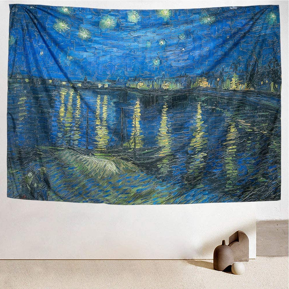 [%icosamro Starry Night Tapestry Wall Hanging, Van Gogh Art Wall Tapestries [double Folded Hems] Star Blanket For Bedroom, Dorm, College, Living Room Intended For Current Blended Fabric Van Gogh Starry Night Over The Rhone Wall Hangings|blended Fabric Van Gogh Starry Night Over The Rhone Wall Hangings Pertaining To Well Liked Icosamro Starry Night Tapestry Wall Hanging, Van Gogh Art Wall Tapestries [double Folded Hems] Star Blanket For Bedroom, Dorm, College, Living Room|most Up To Date Blended Fabric Van Gogh Starry Night Over The Rhone Wall Hangings Regarding Icosamro Starry Night Tapestry Wall Hanging, Van Gogh Art Wall Tapestries [double Folded Hems] Star Blanket For Bedroom, Dorm, College, Living Room|most Recently Released Icosamro Starry Night Tapestry Wall Hanging, Van Gogh Art Wall Tapestries [double Folded Hems] Star Blanket For Bedroom, Dorm, College, Living Room Pertaining To Blended Fabric Van Gogh Starry Night Over The Rhone Wall Hangings%] (View 2 of 20)