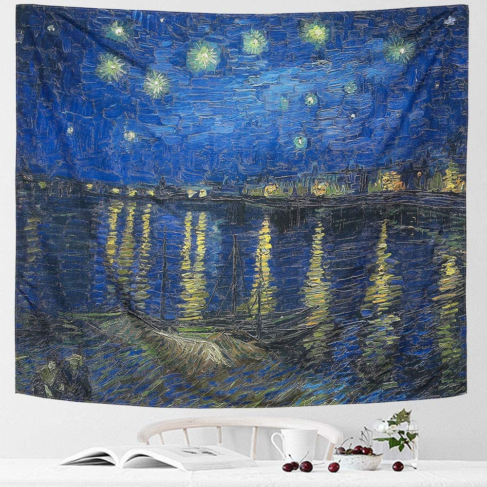 [%icosamro Starry Night Tapestry Wall Hanging, Van Gogh Art Wall Tapestries [double Folded Hems] Star Blanket For Bedroom, Dorm, College, Living Room Throughout Current Blended Fabric Van Gogh Starry Night Over The Rhone Wall Hangings|blended Fabric Van Gogh Starry Night Over The Rhone Wall Hangings In Most Recently Released Icosamro Starry Night Tapestry Wall Hanging, Van Gogh Art Wall Tapestries [double Folded Hems] Star Blanket For Bedroom, Dorm, College, Living Room|recent Blended Fabric Van Gogh Starry Night Over The Rhone Wall Hangings Intended For Icosamro Starry Night Tapestry Wall Hanging, Van Gogh Art Wall Tapestries [double Folded Hems] Star Blanket For Bedroom, Dorm, College, Living Room|fashionable Icosamro Starry Night Tapestry Wall Hanging, Van Gogh Art Wall Tapestries [double Folded Hems] Star Blanket For Bedroom, Dorm, College, Living Room Regarding Blended Fabric Van Gogh Starry Night Over The Rhone Wall Hangings%] (View 5 of 20)