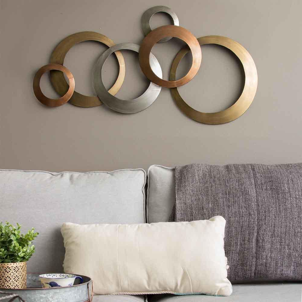 Interlocking Circles Metal Wall Decor – East Shore Modern Within Well Known Wall Décor By Latitude Run (View 16 of 20)