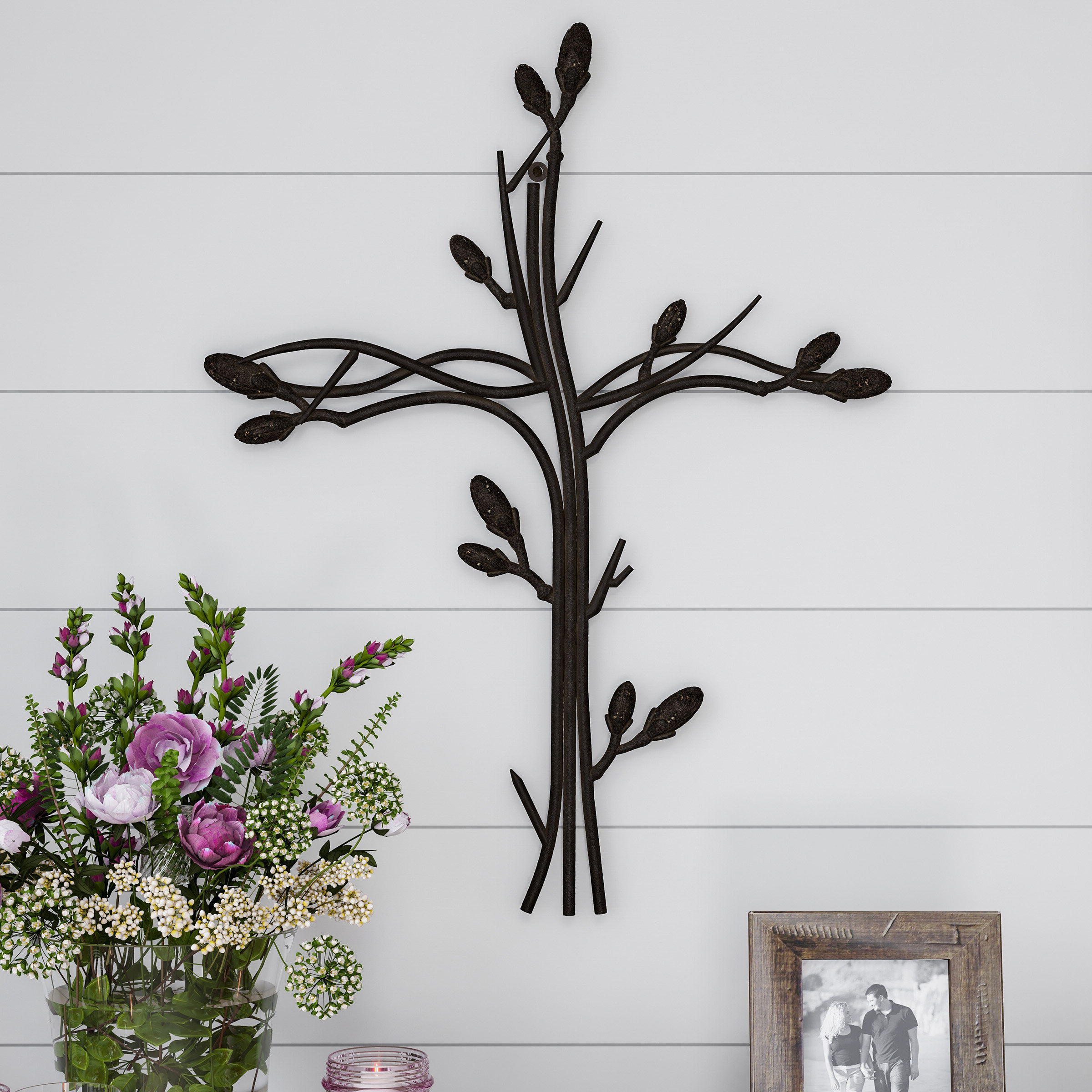 Intertwined Vine Metal Wall Décor Within Favorite Rustic Metal Wall Décor By Winston Porter (View 7 of 20)