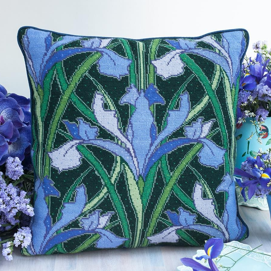 Iris Lovers Will Go Mad For This Beautiful Design From In 2019 Blended Fabric Irises Tapestries (View 15 of 20)