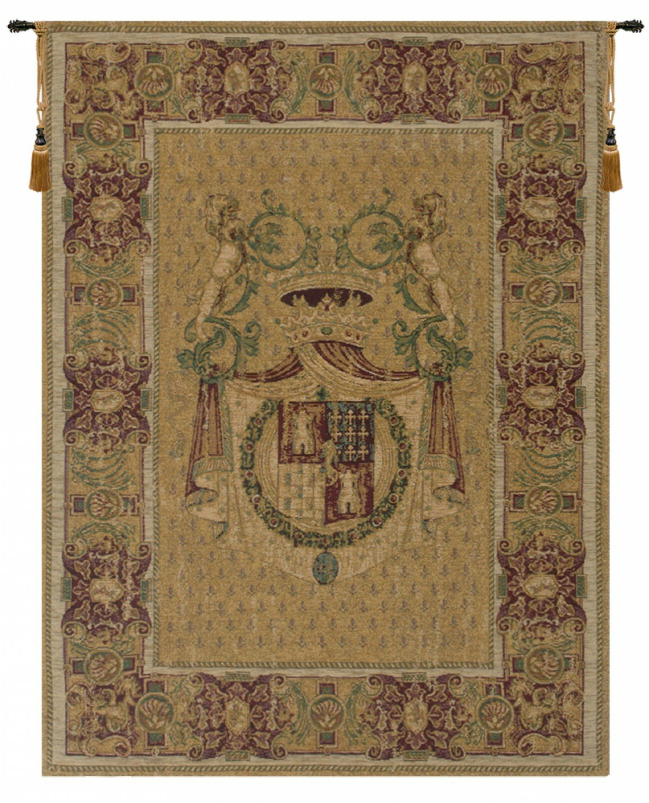 Italian Wall Hanging With Trendy Blended Fabric Havenwood Chinoiserie Tapestries Rod Included (View 8 of 20)