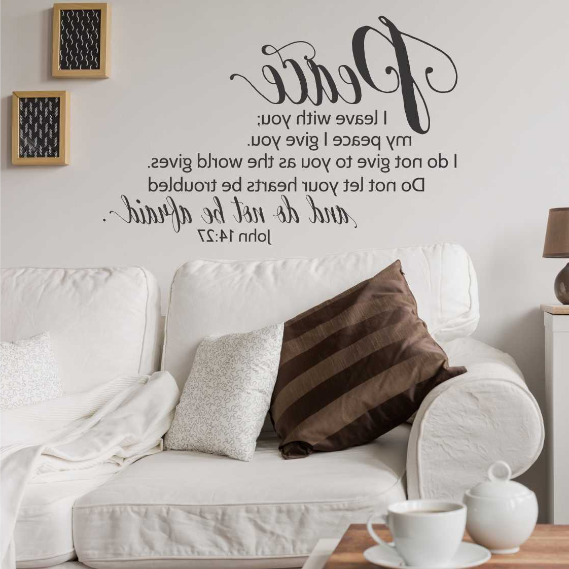 John 14:27 Peace I Leave With You / Wall Decal With Regard To Newest Peace I Leave With You Wall Hangings (View 2 of 20)