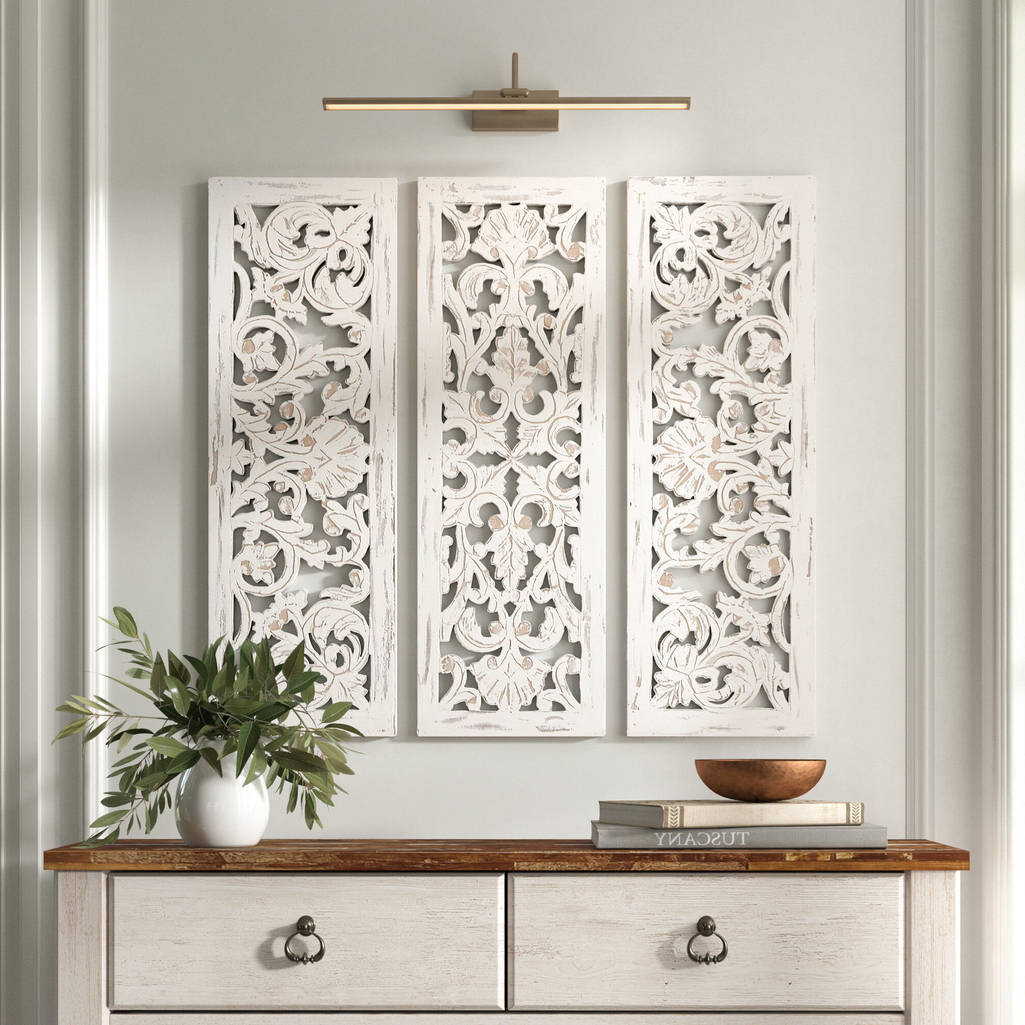 Featured Photo of 3 Piece Carved Ornate Wall Décor Set