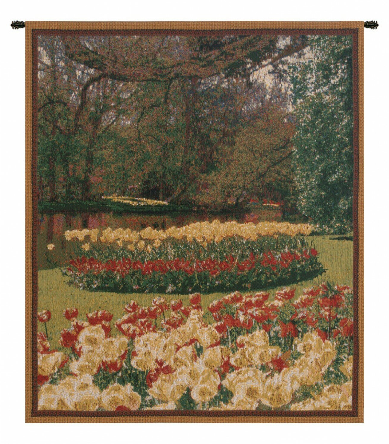 Keukenhof Ii, Mini Wall Hanging Regarding Well Known Blended Fabric Bellagio Scalinata Wall Hangings (View 11 of 20)