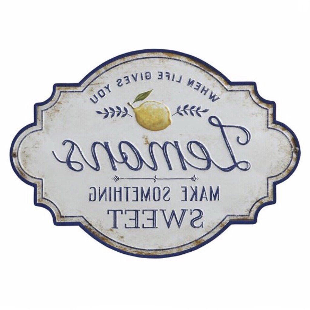Kitchen Wall Decor, Metal Wall Decor, Lemons Intended For Metal Wall Décor By Charlton Home (View 15 of 20)