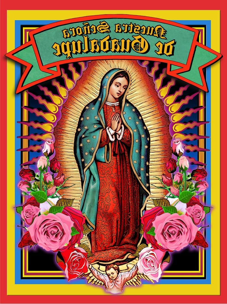 Lady Of Guadalupe Raglan Tshirt Virgin Mary Holy Card T Throughout Recent Blended Fabric Our Lady Of Guadalupe Wall Hangings (View 5 of 20)