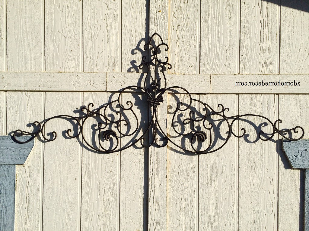 Large Tuscan Wrought Iron Metal Wall Decor Rustic Antique For Well Known Antique Iron Alloy Wall Décor (View 3 of 20)