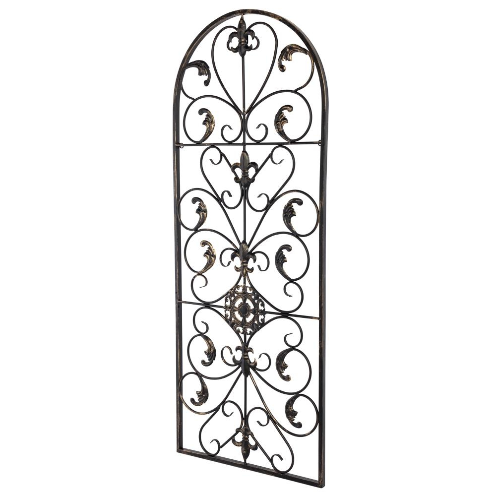Large Tuscan Wrought Iron Metal Wall Decor Rustic Antique Within Popular Antique Iron Alloy Wall Décor (View 4 of 20)
