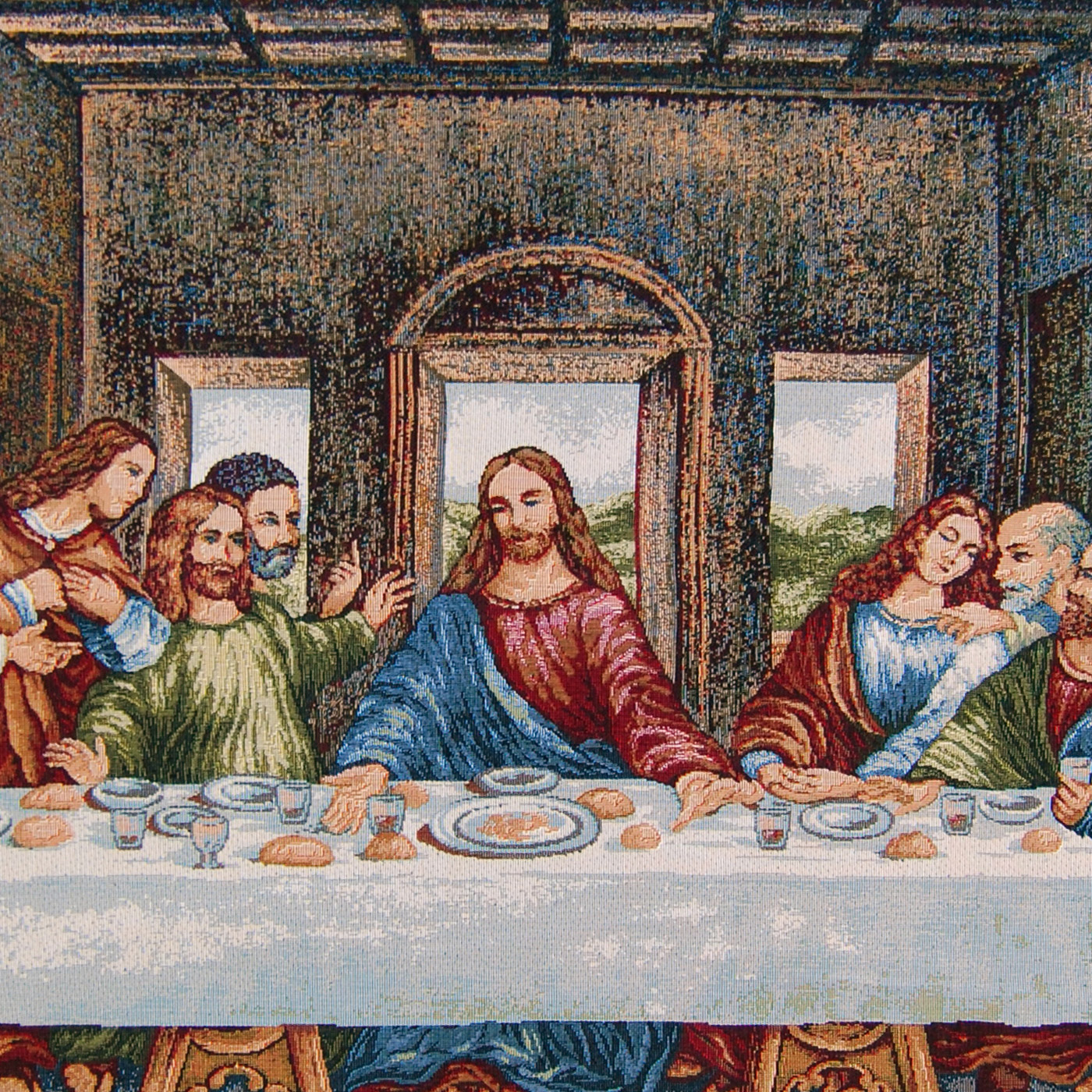 Last Supper (leonardo Da Vinci) – Religious – Wall With Popular Blended Fabric Leonardo Davinci The Last Supper Wall Hangings (View 15 of 20)
